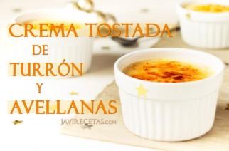 CREMA TOSTADA DE TURRÓN Y AVELLANAS