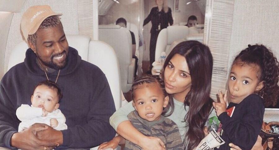 Resultado de imagen de Kim Kardashian y Kanye West hijos